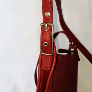 Coach Bags - COACH all leather red small shoulder bag crossbody